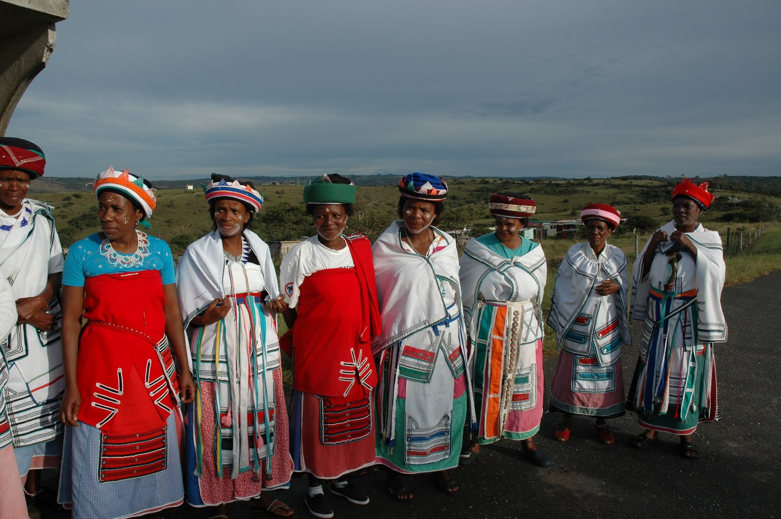 group of old Xhosa women wearing cultural clothes signifying their ...