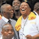 Thabo Mbeki Shares a joke with Julius Malema, then President of ANCYL