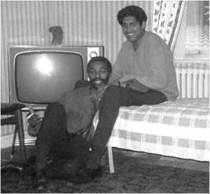 Thabo Mbeki and Essop Pahad at the Pahad flat Earls Court mid 1960s 300x277 Thabo Mvuyelwa Mbeki former President of South Africa
