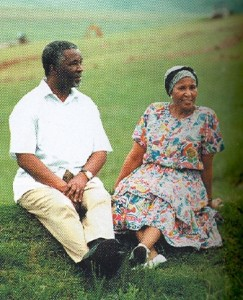 Thabo Mbeki and his wife Zanile, walking in the fields of his home town Idutywa, eNgcingwana 2