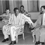 Thabo Mbeki with Thomas Sankara, president of Burkina Faso & Van Zyl Slabbert, Ouagadougou, June 1987(Courtesy of IDASA Resource Centre)