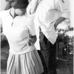 Thabo Mbeki with a woman dancing in early 1970s