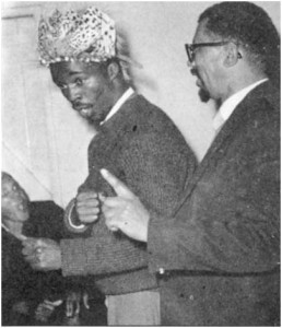 Walter Sisulu and Thabo Mbeki at the Sisulus' wedding anniversary, July 1962