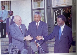 mbeki with former Presidents Mandela & De Klerk