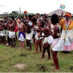 xhosa girls perfoming traditional Xhosa dances Khaya La Bantu cultural village with old women behind 150x150 Khaya La Bantu Cultural Village in the Eastern Cape