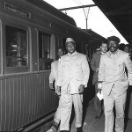 1959 May Chief Luthuli Oliver Tambo and Moses Mabhida at Johannesburg Station before his banning 150x150 Nelson Mandela Timeline – Little Known Facts You May Not Know About Dalibhunga