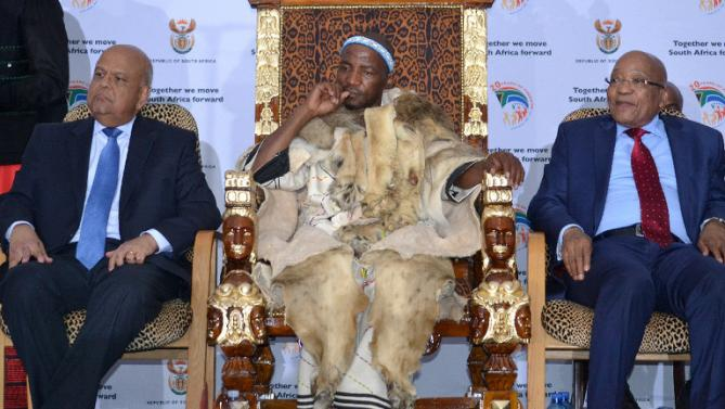 Xhosa King Zwelonke Sigcawu coronation with President Jacob Zuma & Pravin Gordhan