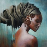 Qhawekazi 1.2 x 1m Oil on canvass - Loyiso Mkize -