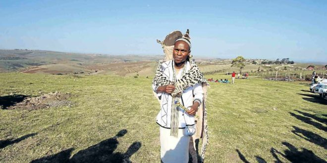 LEADER OF THE FUTURE: Chief Tina Gcinisizwe Mtwa of AmaXesibe Traditional Council in Mqanduli is applauded for his hard work. The Bachelor of Education degree graduate, was inaugurated last week as AmaXesibe chief at Lower Ngqwarha Great Place near Mqanduli Picture: LULAMILE FENI