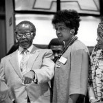 Nelson Mandela and Oliver Tambo with Winnie Madikizela-Mandela and Adelaide Tambo