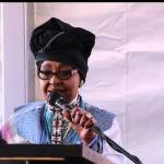Winnie Madikizela-Mandela in Xhosa traditional attire