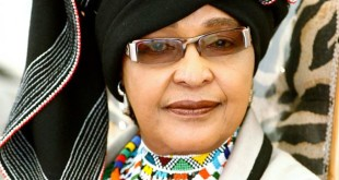 Winnie Madikizela-Mandela in traditional Xhosa Clothes