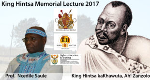 King Hintsa Memorial Lecture 2017 Presented by Professor Ncedile Saule